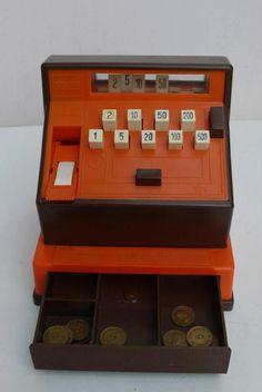 Speel kassa - Die van mij was groen dacht ik. Play Register. I think mine was green.