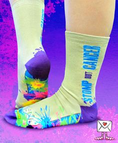 A Sock Grams exclusive! The proceeds from the sale of these socks goes to cancer research!