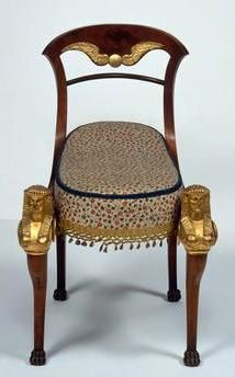 Egyptian upholstered chair. Tuscan workshop, 1820. 89 × 64 cm. Florence, private collection.