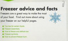 Freezer tips http://england.lovefoodhatewaste.com/hints-and-tips