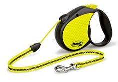 Flexi Neon Retractable Dog Leash (Cord) 16 ft, Medium, Black/Neon *** To view further for this item, visit the image link. (This is an affiliate link) Online Pet Supplies, Dog Supplies, Dog Harness, Dog Leash, Pet Supply Stores, Black Neon, Dog Hacks, Medium Dogs, Dog Walking