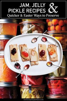 Just in time for the late-summer harvest, here's a pantryful of simplified recipes for jams, jellies, and pickles that will save you from standing over a steamy stove all day.