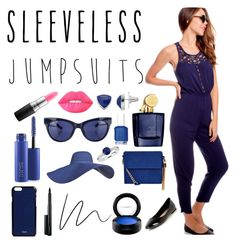 """""""sleeveless jumpsuits"""" by julia-dines ❤ liked on Polyvore featuring Aedes De Venustas, Chaps, Essie, Linda Farrow, New Look, Blue Nile, MAC Cosmetics, Lime Crime, Valextra and sleevelessjumpsuits"""
