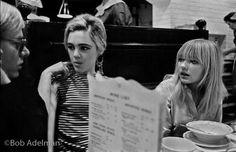 Andy, Edie & Bibbe at Max's Kansas City 1965