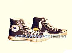 Dreamcatcher #Sneakers Dream Catcher Customizing High-top Painted