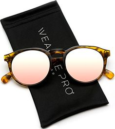 df40a0a6eb86 WearMe Pro - Retro Round Flat Top Frame Mirrored Fashion Sunglasses any  good