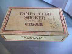 Tampa Club Smoker Very, Very Mild Cigar Box, Vintage, Storage, Home Decor, Tampa Florida Cigar Industry, Ybor City Cigar Rolling, Tobacciana