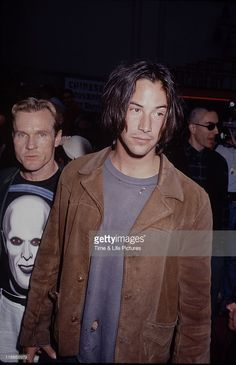 STATES - Actors Keanu Reeves and William Sadler at the Hollywood premiere of his film 'Bill & Ted's Bogus Journey', 11th July 1991.