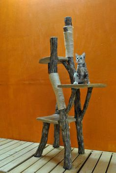 Climb-a-Tree for Cats - 10% OFF Pet Lover / Handmade / Cat Tree / Unique Furniture / Special Toys / Pet Accessories / Pets. $168.99, via Etsy.