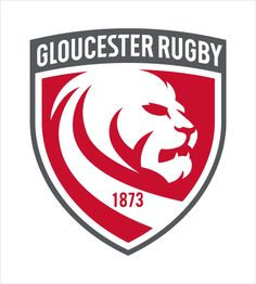 Gloucester Rugby Unveil New Logo Design - Logo Designer Logo Desing, Graphic Design Typography, Gloucester Rugby, English Rugby, Logo Sketches, Rugby Club, Portfolio Logo, Environmental Graphics, Animal Logo