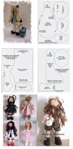 Patrones de muñecas de tela