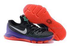 "abba97df328c Nike KD 8 ""Vinary"" Black White-Green Shock-Hyper Orange Sale"