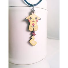 Pikachu Necklace (£8.13) ❤ liked on Polyvore featuring jewelry, necklaces, charm chain necklace, charm jewelry, adjustable cord necklace, leaf necklace and wood jewelry