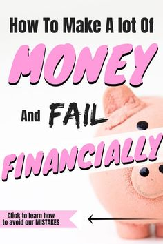 Learn how to make a lot of money and not fail financially. Having a high income doesnt excuse not having a budget if you seek Money Tips, Money Saving Tips, Saving Ideas, Living On A Budget, Frugal Living, Budget Envelopes, Thing 1, Budget Template, Lots Of Money