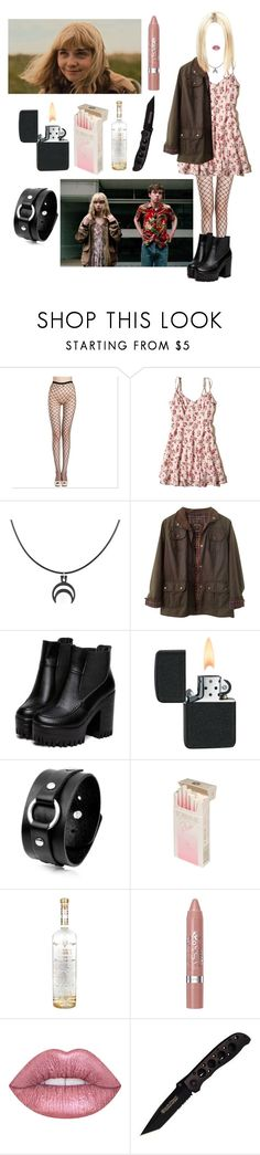 """""""The End of the F World"""" by violenceinsilence ❤ liked on Polyvore featuring Hollister Co., The Rogue + The Wolf, Barbour, Rimmel and Lime Crime"""