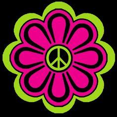 2 Color Peace Daisy Flower Power Vinyl Decal / Sticker Choose 2 colors | LilBitOLove - Housewares on ArtFire