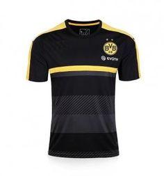 2017 Cheap Training Jersey Borussia Dortmund Black Replica Football Shirt [JFCB949]