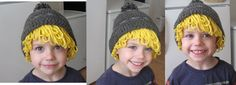 Crocheted a Kristoff hat for my son :D I Love the Blonde hair effect!