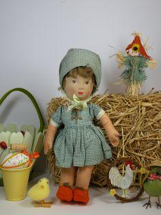 Annie a Beautiful C1930 Chad valley Cloth doll