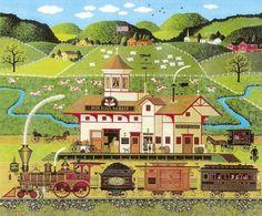 Fox Hill Farms by Charles Wysocki