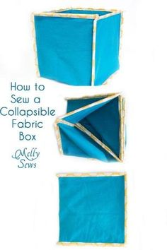How To Sew Collapsible Fabric Storage Boxes   MellySews.com By Esmeralda