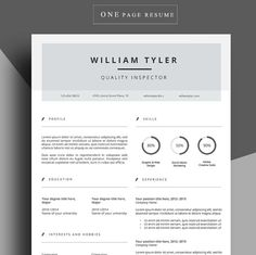 Modern Resume Template  Professional Resume By Prographicdesign