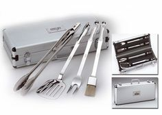 The perfect Christmas gift for him! All-Clad BBQ Tool Set with all the fixings!