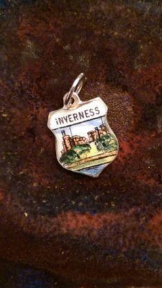 Inverness Scotland vintage sterling silver enamel by CharmedByTera