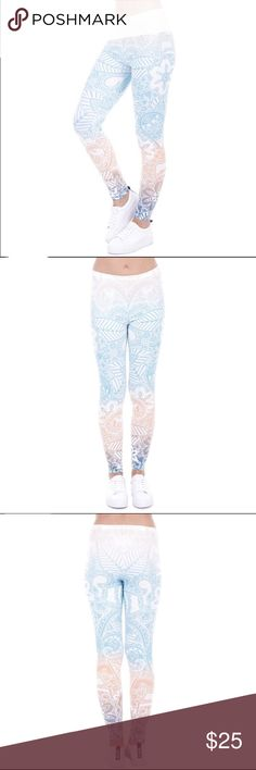 🌷COMING SOON Mandala Light Leggings ✔️Brand New ✔️Polyester, Spandex 🌷Happy Poshing Pants Leggings