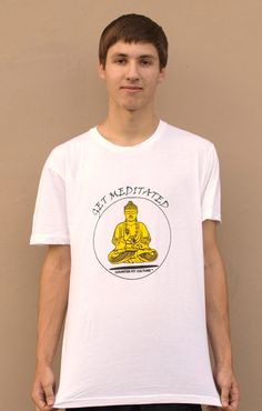 Buddha Screen Print TShirt The Get Meditated by CounterFitCulture