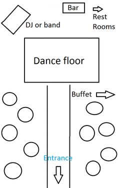 floor plan example for wedding and reception in the same room