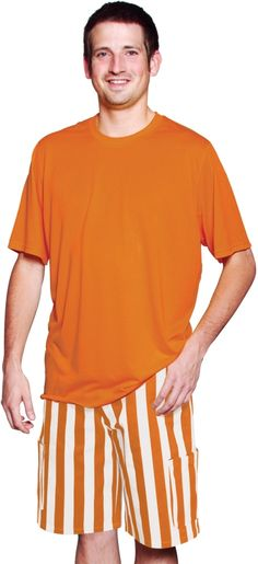 Game Bibs Cargo Shorts: Burnt Orange and White. All y'all in Austin, Texas are going to love these shorts for game day!