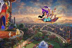 Thomas Kinkade Oil Paintings.   Aladdin. P200 by swanstudio, $16.00