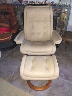 Ekornes Stressless Recliner Chair With Ottoman  #Ekornes
