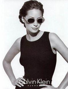 Christy Turlington for Calvin Klein eyewear 90's
