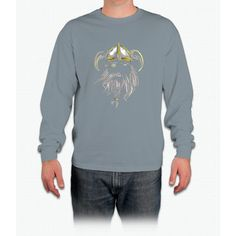 Viking T-Shirt Old Norse Scandinavian Warrior Design Art Tee Long Sleeve T-Shirt