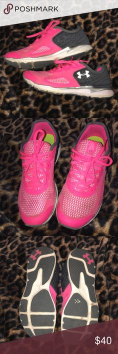 Under Armour hot pink tennis shoes Great condition Under Armour Shoes Athletic Shoes