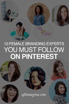10 Female Branding Experts You Must Follow on Pinterest