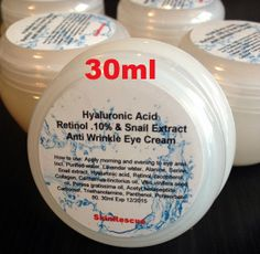 SNAIL EXTRACT RETINOL-A .10% HYALURONIC ACID ANTI WRINKLE EYE LIFT FIRM CREAM