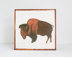 southwestern nursery art buffalo wall art animal by redtilestudio #southwestern #buffalo #bison #nursery #art #redtilestudio