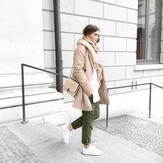 """Nina, """"FashiionCarpet"""" wearing Promod coat."""
