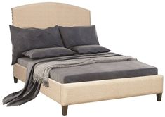 Amish Upholstered Arch Bed Gorgeous contemporary style bed with numerous upholstery options available.