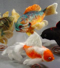 *NEEDLE FELTED ART ~ by Teri Canepa, these are really wonderful!