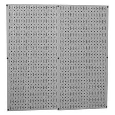 Gray Metal Pegboard Pack - Two Pegboard Tool Boards-30P3232GY at The Home Depot