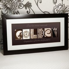 beautiful personalised print with the word GOLDEN spelt out using architectural images. The perfect 50th Wedding Anniversary Gift