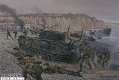 Disaster at Dieppe, France, 19th August 1942 by David Pentland. (Y)