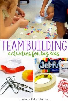 Team-Building Activities for Back to School A great assortment of back to school activities that will get your students thinking and working cooperatively with their peers! The post Team-Building Activities for Back to School appeared first on School Diy. First Day Of School Activities, 1st Day Of School, Beginning Of The School Year, Middle School Games, Middle School Activities, Back To School Crafts, Starting School, Back To School Teacher, Community Building Activities
