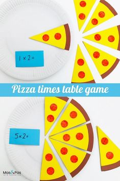 Learning times tables is tricky. This fun pizza games makes learning them so much easier and so much more fun. Your child will have so much fun playing our fun times table pizza game that it wont even feel like learning. Its quick and easy to make too. Math Activities For Kids, Games For Kids, Times Tables Games, Year 1 Maths, Pizza Games, Math Classroom Decorations, Math Tables, Supermarket, Learning Activities