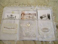 Vintage white booklet wrap by Lilla on Etsy