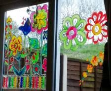 View From The Inside Spring Window Painting Ideas For Shop
